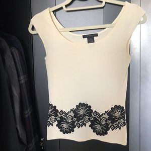 Limited cream and black dress T